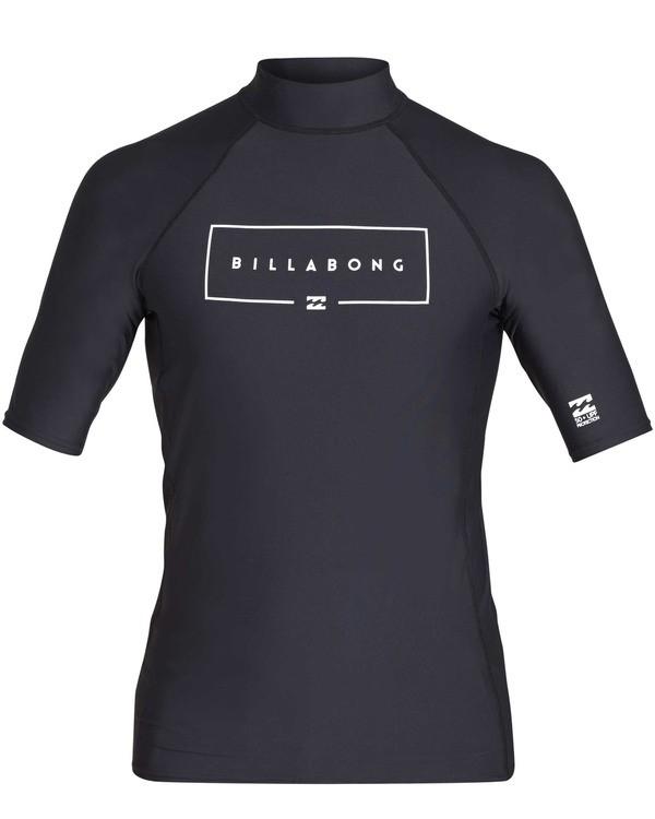 0 Union Performance Fit Short Sleeve Rashguard Black MR02TBUN Billabong