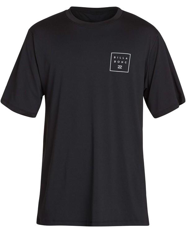0 All Day Mesh Loose Fit Short Sleeve Rashguard Black MR04NBML Billabong