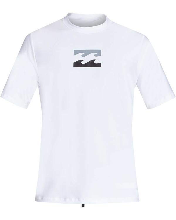 0 All Day Wave Loose Fit Short Sleeve Rashguard White MR07TBWL Billabong
