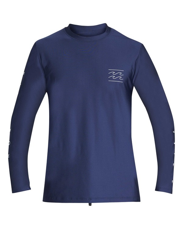 0 Unity Loose Fit Long Sleeve Rashguard Blue MR55TBUL Billabong