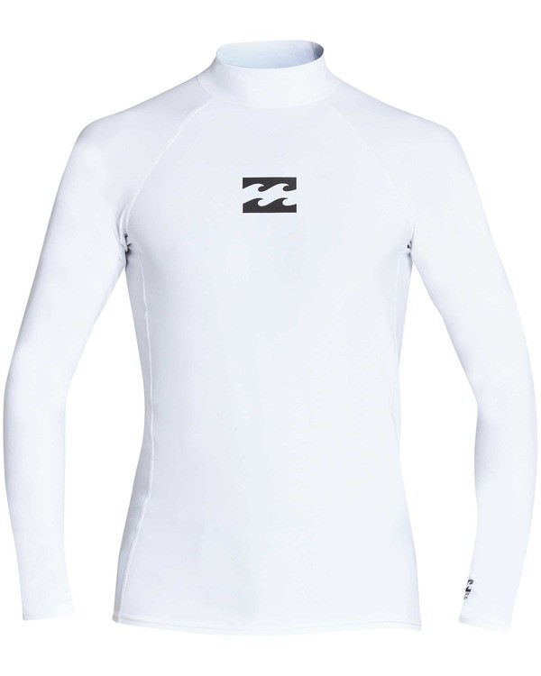 0 All Day Wave Performance Fit Long Sleeve Rashguard White MR60TBAL Billabong