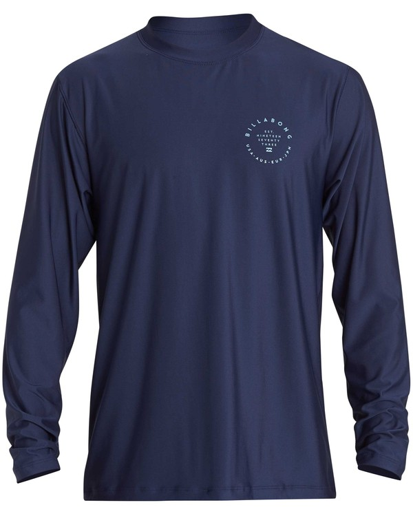 0 Rotor 2 Loose Fit Long Sleeve Rashguard Blue MR61NBRO Billabong