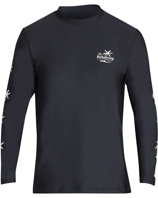 0 Surf Club Loose Fit Long Sleeve Rashguard Black MR61TBSU Billabong