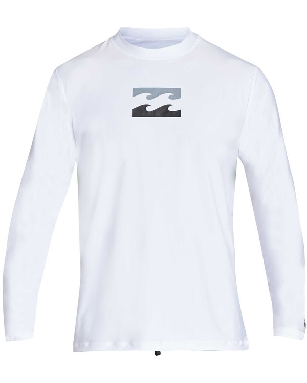 0 All Day Wave Loose Fit Long Sleeve Rashguard White MR61TBWL Billabong