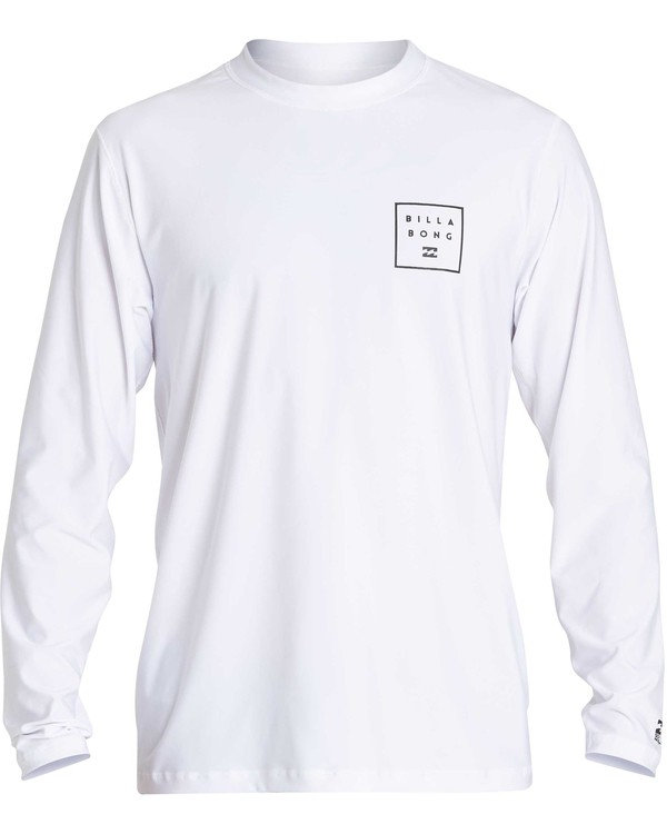 0 Stacked Loose Fit Long Sleeve Rashguard White MR63NBST Billabong