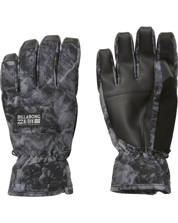 0 Men's Kera Snow Gloves Grey MSGLQKER Billabong