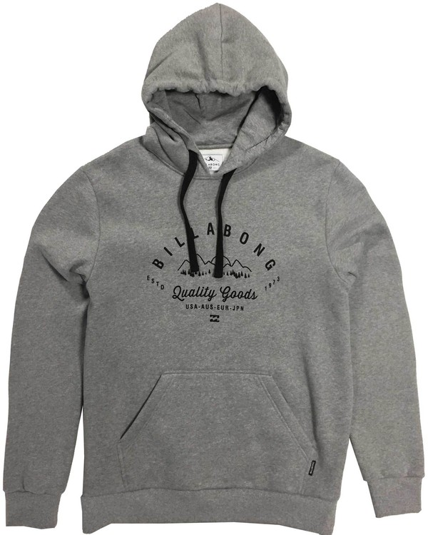 0 Downhill Bonded Hoodie Grey MSN6LDOW Billabong