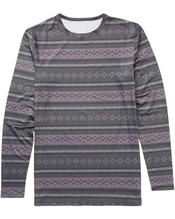 0 Men's Operator Tee Technical Long Sleeve Under Layer Shirt Black MSN9QOPT Billabong