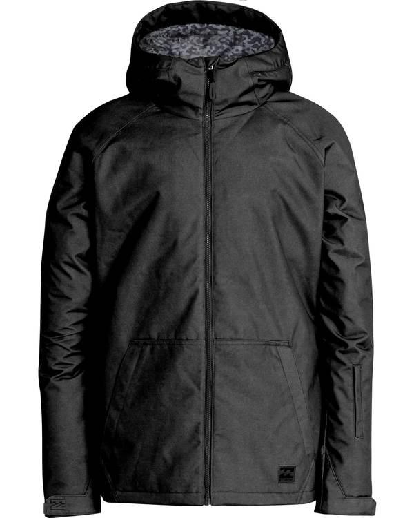 0 Men's All Day Solid Outerwear Jacket Black MSNJQADI Billabong