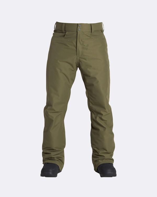 0 Men's Outsider Outerwear Snow Pants Brown MSNPQOUT Billabong