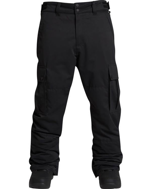 0 Men's Transport Outerwear Snow Pants Black MSNPQTRA Billabong