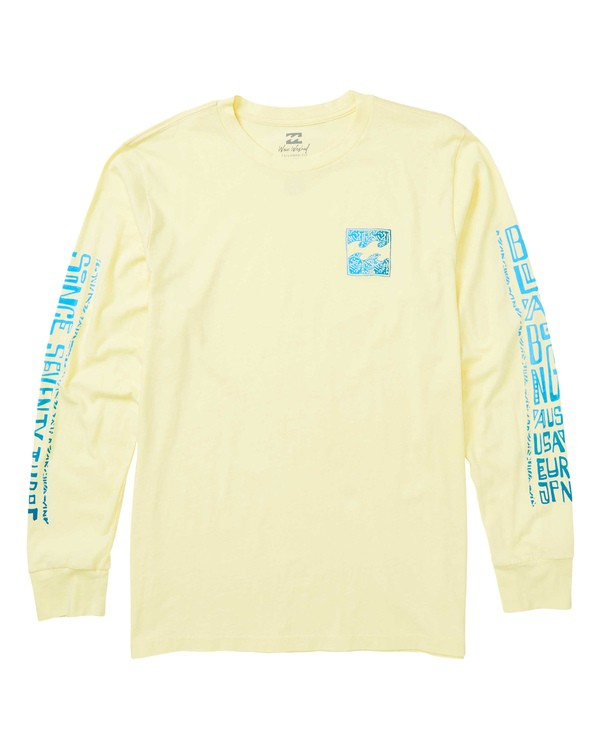 0 Boundry Long Sleeve T-Shirt Yellow MT43SBBO Billabong