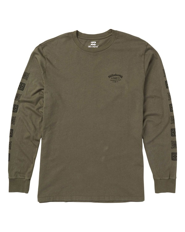 0 Compania Long Sleeve T-Shirt Green MT43SBCO Billabong
