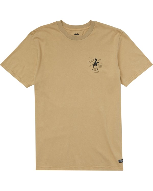 0 Slogan Tee Beige MT45PBSL Billabong