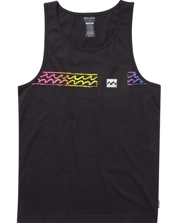 0 Thrash Stripe Tank Black MT82PBTH Billabong