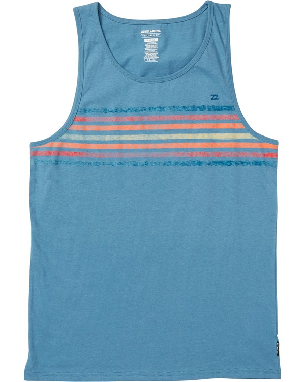 0 Spinner Tank Logo Tank Top Blue MT83SBTS Billabong