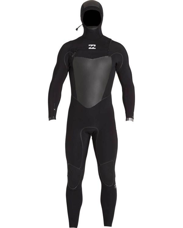 0 5/4 Furnace Carbon X Hooded Chest Zip Fullsuit Black MWFULCH5 Billabong