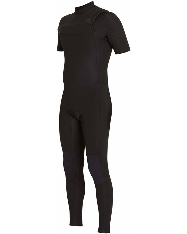 0 2/2 Revolution Tribong Short Sleeve Chest Zip Wetsuit Black MWFULRC2 Billabong