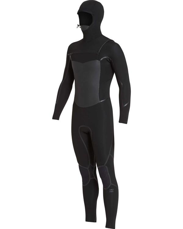 0 5/4 Furnace Absolute X Hooded Chest Zip Black MWFUQBB5 Billabong