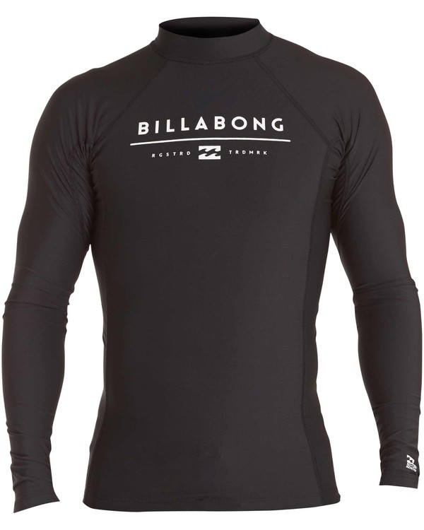 0 All Day Unity Performance Long Sleeve Wetshirt Black MWLYJALL Billabong