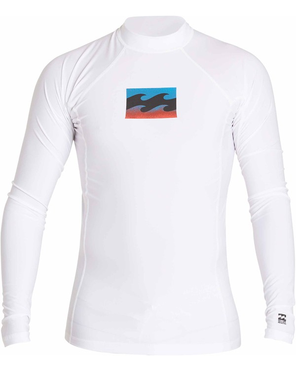 0 All Day Wave Long Sleeve Wetshirt White MWLYJICL Billabong