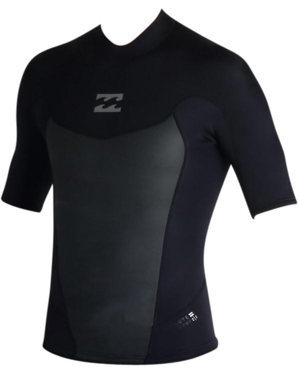 0 2mm Absolute Short Sleeve Wetsuit Jacket Black MWSHJASS Billabong
