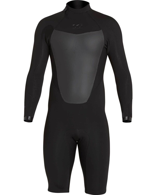 0 2mm Absolute Comp Back Zip Springsuit Black MWSPNBAL Billabong