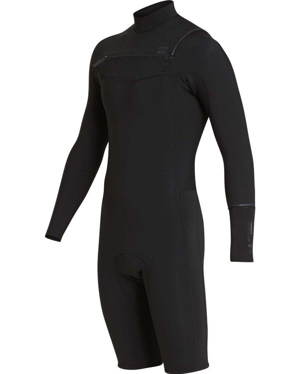 0 2/2 Revolution Chest Zip Long Sleeve GBS Springsuit Black MWSPQBRL Billabong