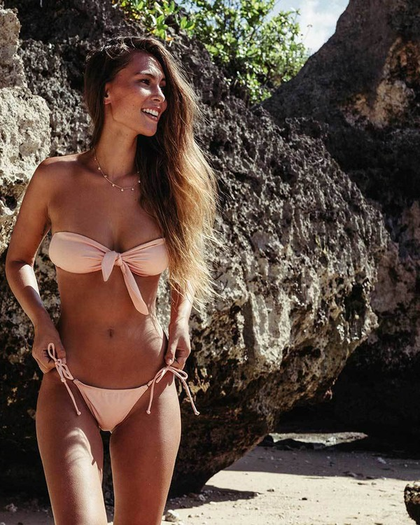 0 Sol Searcher Tie Side Isla Bikini Bottom Pink XB01LSOL Billabong