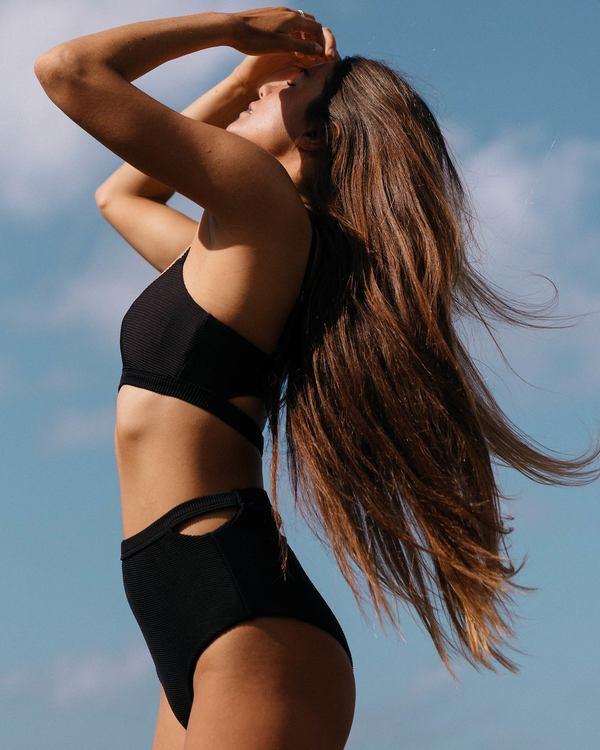 0 Tanlines Retro Rib Knit Bikini Bottom Black XB18SBTA Billabong