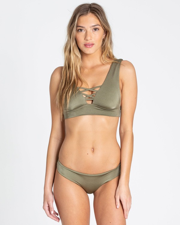 0 Sol Searcher Plunge Bikini Top Green XT01TBSO Billabong