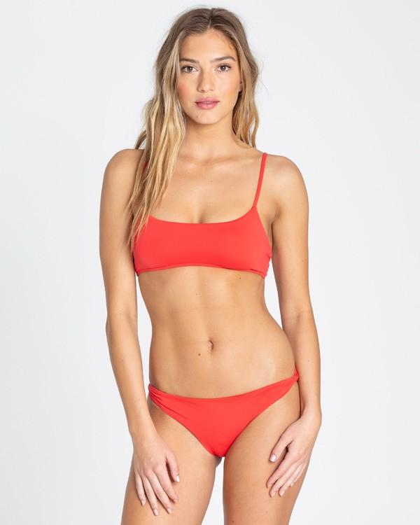 0 Sol Searcher Mini Crop Bralette Bikini Top Red XT02TBSO Billabong