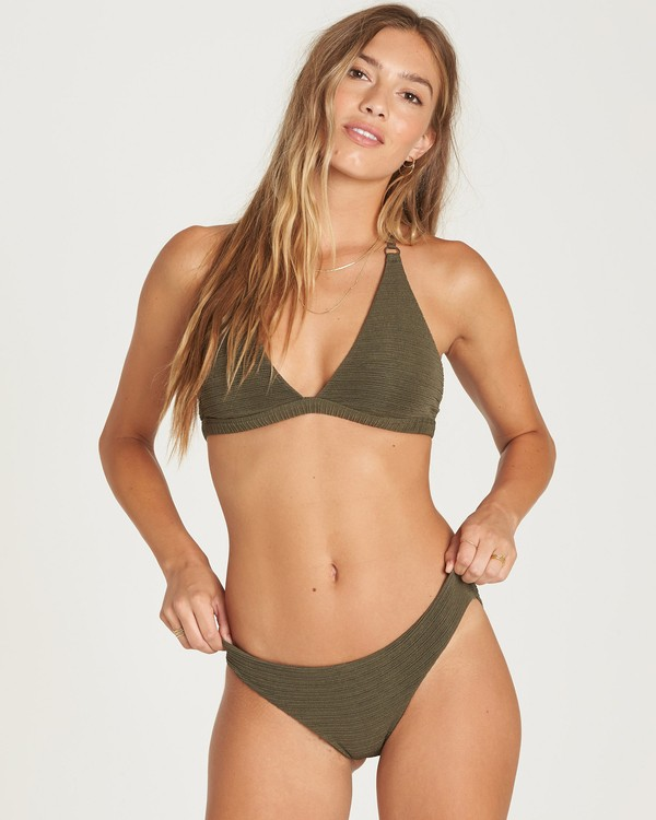 0 No Hurry Halter Bikini Top Green XT23QBNO Billabong