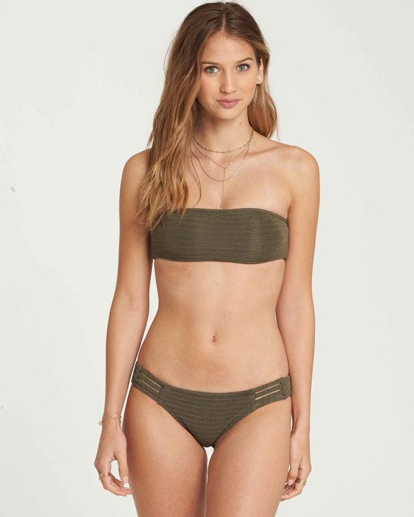0 No Hurry Bandeau Bikini Top Green XT24QBNO Billabong