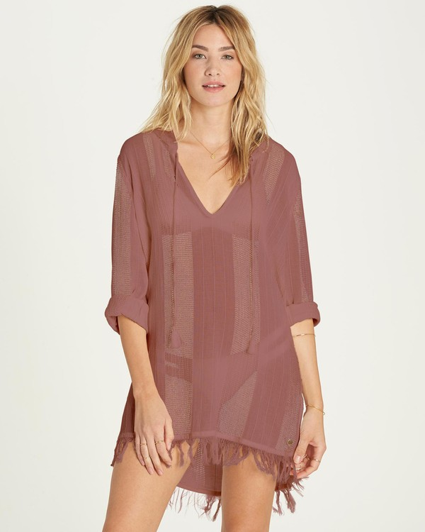 0 Babe Side Cover Up Dress Red XV01MBAB Billabong
