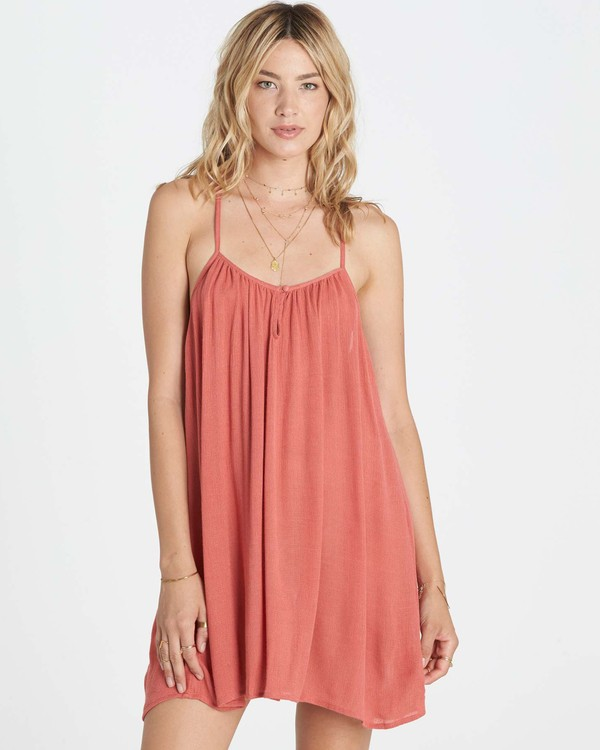 0 Seven Seas Cover Up Dress Red XV04LSEV Billabong