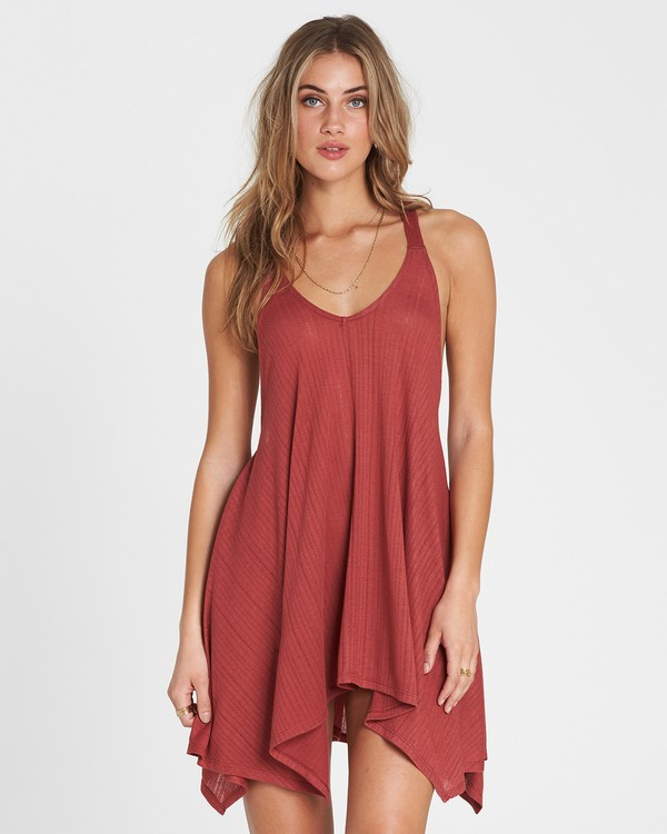 0 Twisted View T-Back Sun Dress Red XV04NBTW Billabong