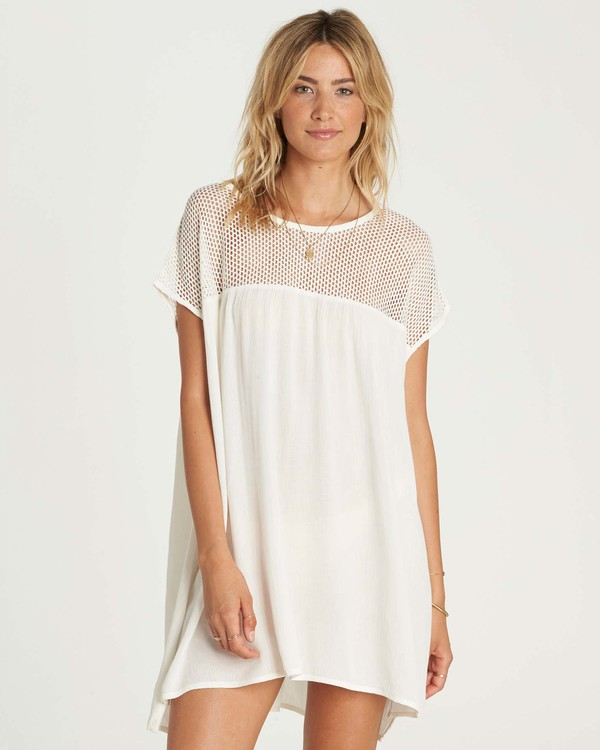 0 Meshin Around Cover Up Dress Beige XV05NBME Billabong