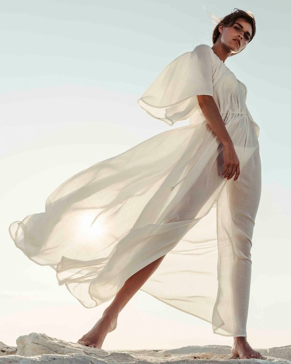 0 Sandy Shores Maxi Dress Cover Up Yellow XV05TBSA Billabong