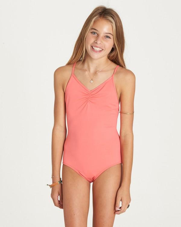 0 Girls' Sol Searcher One Piece Swim Pink Y101LSOL Billabong