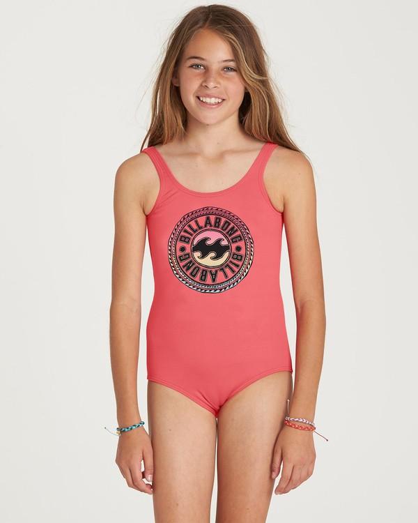 0 Girls' Sol Searcher One Piece Swim Pink Y101NBSO Billabong