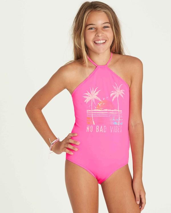 0 Girls' Sol Searcher One Piece Swim Pink Y101PBSO Billabong