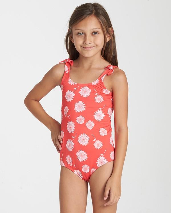 0 Girls' Daisy Day One Piece Swim Red Y104TBDA Billabong
