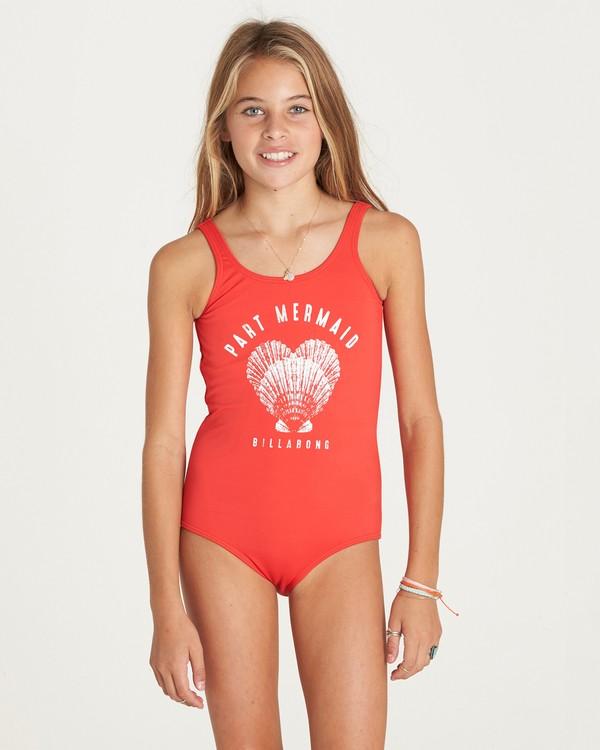 0 Girls' Sol Searcher One Piece Swim Red Y107LSOL Billabong