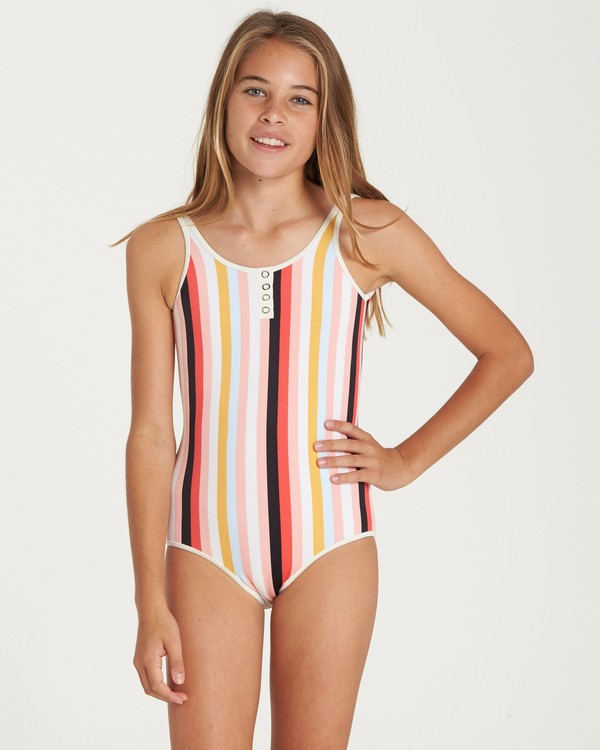 0 Girls' Come On By One Piece Swim  Y107QBCO Billabong