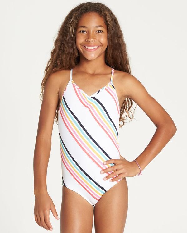 0 Girls' Seeing Rainbows One Piece Swim  Y111TBSE Billabong