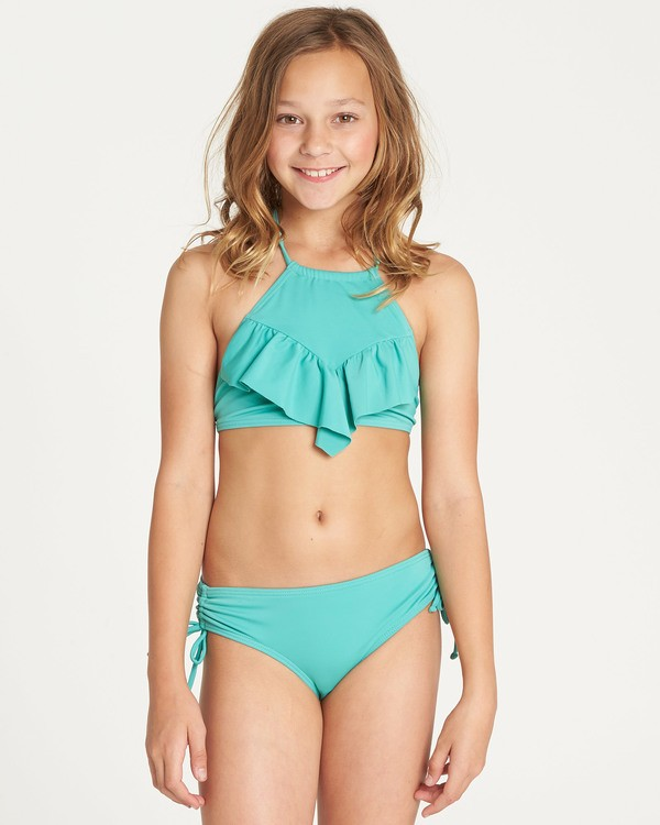 0 Girls' Sol Searcher High Neck Bikini Set Green Y202TBSO Billabong