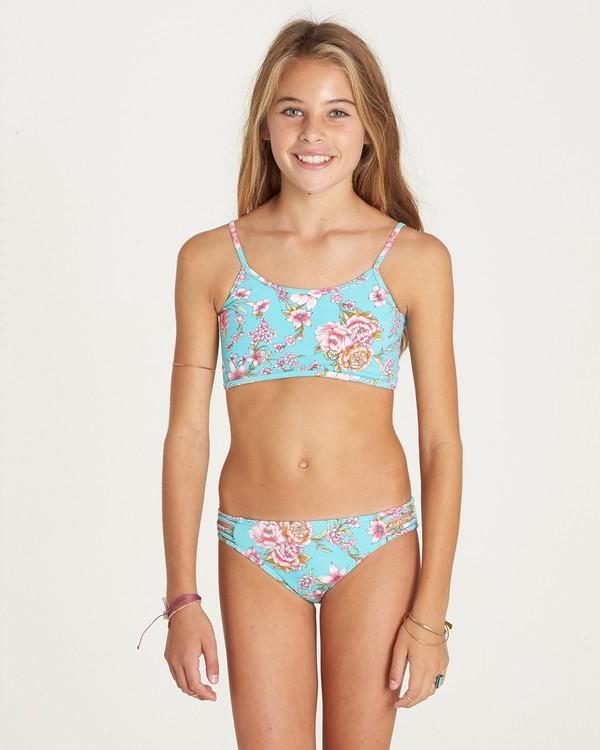 0 Girls' Blooming Beauty Athena Swim Set Green Y203LBLO Billabong