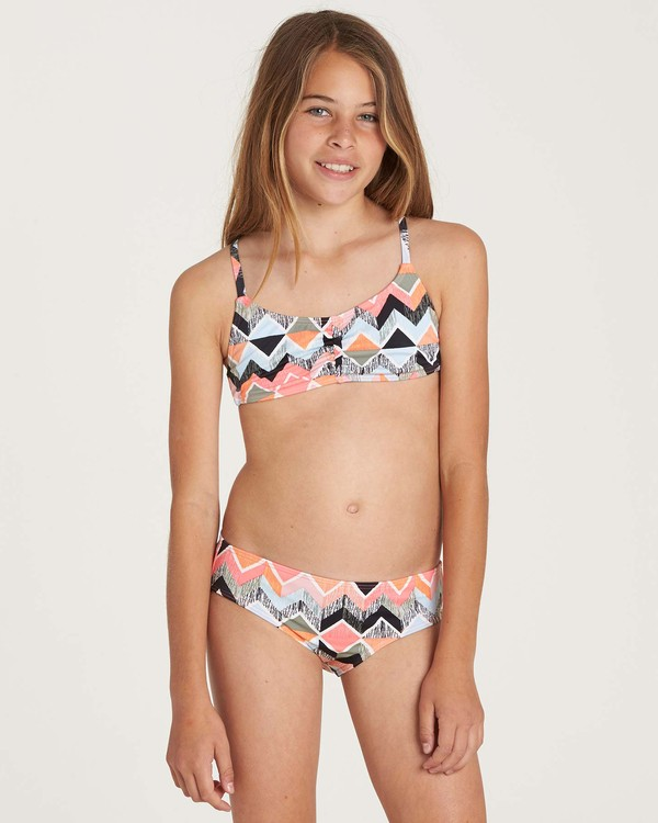 0 Girls' Zigginz Crossback Swim Set  Y203NBZI Billabong