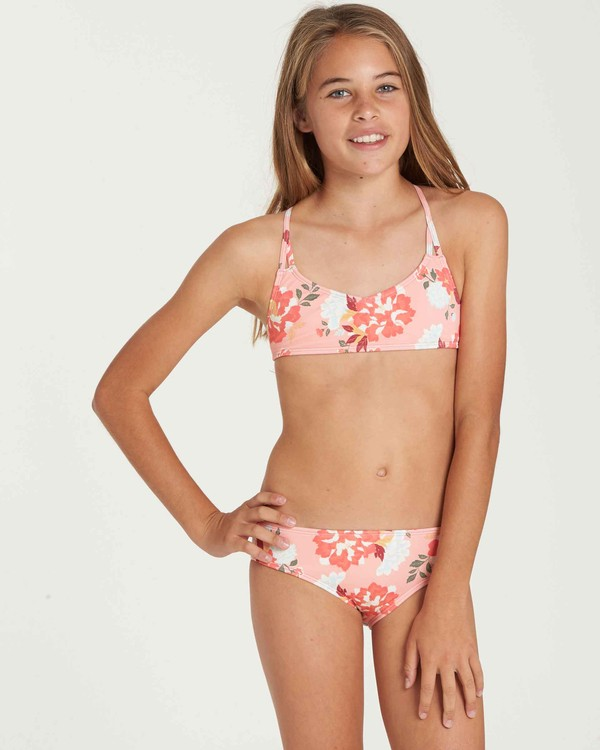 0 Girls' All Along Crossback Swim Set  Y204QBAL Billabong